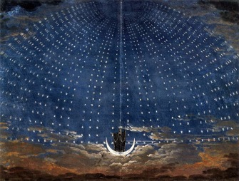 Schinkel, scenografia per il fondale del Palazzo della Regina della Notte.