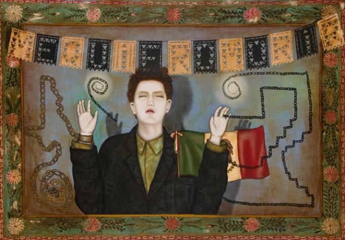 Julio Galán, Me quiero morir, olio su tela, 1985.
